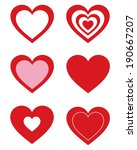 cute vector valentines day... | Shutterstock .eps vector #190667207
