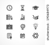 vector education icons set.... | Shutterstock .eps vector #190684973