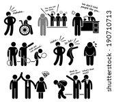 discrimination racist prejudice ... | Shutterstock .eps vector #190710713
