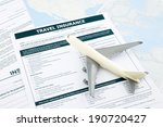travel insurance form and  ... | Shutterstock . vector #190720427