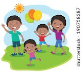 family day summer vacation.... | Shutterstock .eps vector #190758287