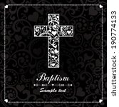 baptism card design with cross. ... | Shutterstock .eps vector #190774133