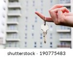 a real estate agent holding... | Shutterstock . vector #190775483