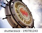 fishermans wharf sign   san...   Shutterstock . vector #190781243