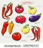 vector hand drawing nightshade... | Shutterstock .eps vector #190790717