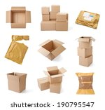collection of various cardboard ... | Shutterstock . vector #190795547