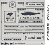 border style labels on... | Shutterstock .eps vector #190805147