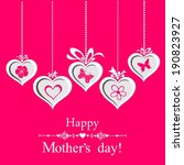 happy mother's day  greeting... | Shutterstock . vector #190823927