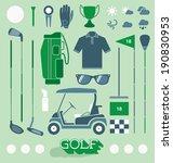 vector set  golf equipment...   Shutterstock .eps vector #190830953