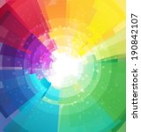 rainbow bright background with... | Shutterstock .eps vector #190842107