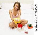 woman in underwear finds a... | Shutterstock . vector #190848053
