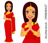 traditional indian woman... | Shutterstock .eps vector #190848437