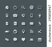 universal outline icons for web ... | Shutterstock .eps vector #190858967