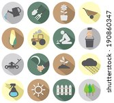 agricultural equipment icons | Shutterstock .eps vector #190860347