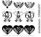 vector icon set showing...   Shutterstock .eps vector #190861097