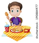 illustration of a young boy... | Shutterstock .eps vector #190884977