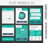 vector modern flat mobile web...