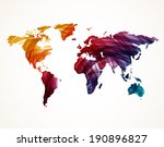 Colorful World Map, Vector illustration - stock vector