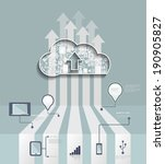 cloud hosting.cloud computing... | Shutterstock .eps vector #190905827