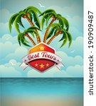 summer holiday flyer design... | Shutterstock . vector #190909487