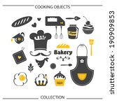 bakery cooking objects... | Shutterstock .eps vector #190909853
