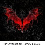 red dragon wings decorated with ... | Shutterstock .eps vector #190911137