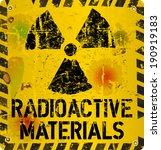 radioactive material warning ... | Shutterstock .eps vector #190919183