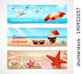 Summer Holidays Beach Labels...
