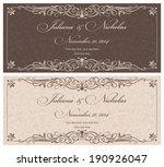 wedding invitation cards ... | Shutterstock .eps vector #190926047