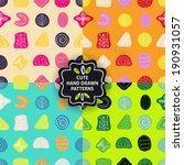 vector seamless simple pattern... | Shutterstock .eps vector #190931057