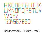colorful typography  | Shutterstock .eps vector #190932953