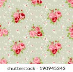shabby chic rose patterns and... | Shutterstock .eps vector #190945343