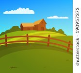 farm landscape | Shutterstock .eps vector #190957373