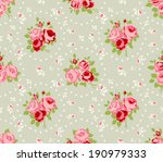 shabby chic rose patterns and... | Shutterstock . vector #190979333