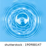 abstract blue circle water drop ... | Shutterstock . vector #190988147