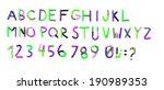 plasticine alphabet | Shutterstock . vector #190989353