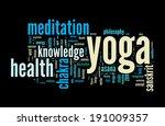 Yoga. Word Cloud Concept Vecto...