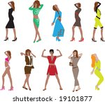 girls | Shutterstock . vector #19101877