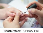 paint your nails with varnish | Shutterstock . vector #191022143