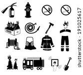 icons set firefighter | Shutterstock .eps vector #191025617