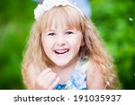 portrait of adorable laughing... | Shutterstock . vector #191035937