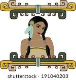 portrait of beautiful native...   Shutterstock .eps vector #191040203