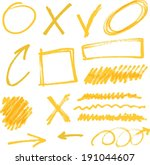 arrow,brush,circle,collection,colorful,curve,deletion,design,direction,doodled,dot,down,drawing,drawn,element