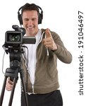 video camera operator with... | Shutterstock . vector #191046497