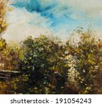Old Vines  Oil Painting Mixed...