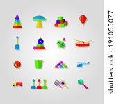 icons for children toys. set of ...   Shutterstock .eps vector #191055077