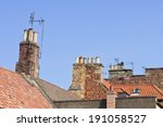 Chimneys On A Row Of Old...