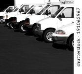 several cars vans and trucks... | Shutterstock . vector #191062967