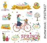 spring design element | Shutterstock .eps vector #191076617