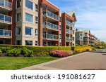 modern apartment buildings in... | Shutterstock . vector #191081627